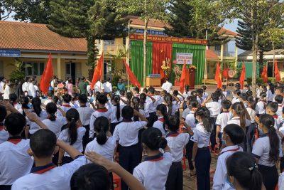 Trường THCS Hoàng Hoa Thám tổ chức lễ khai giảng năm học 2020-2021.