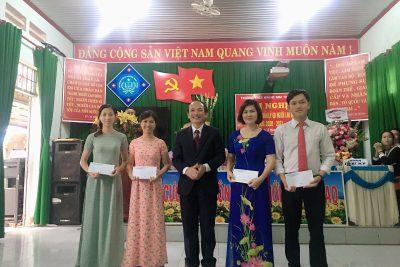 """Trường THCS Hoàng Hoa Thám đã tổ chức thành công hội nghị : """" Nhà giáo, cán bộ quản lý giáo dục và người lao động """" năm học 2020-2021"""